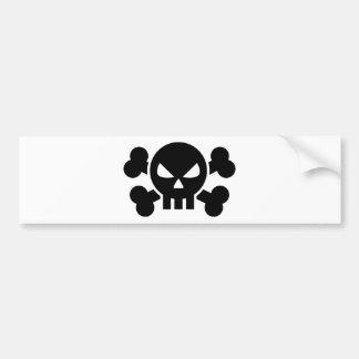 Huesos cruzados cráneo etiqueta de parachoque