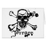 Huesos cruzados del pirata tarjeta
