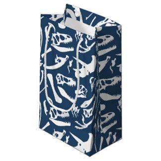 Huesos de dinosaurio (azules) bolsa de regalo pequeña