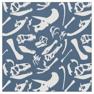 Huesos de dinosaurio (azules) telas