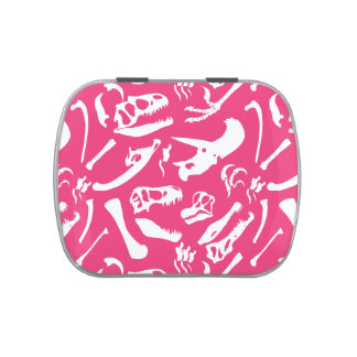 Huesos de dinosaurio (rosa) jarrones de caramelos