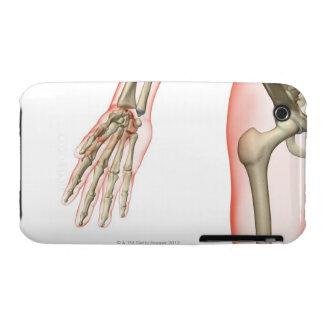 Huesos de la cadera 4 Case-Mate iPhone 3 fundas