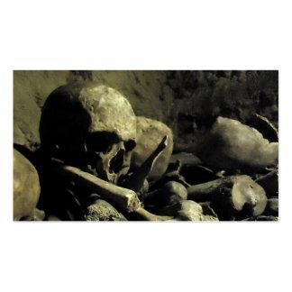 huesos de la catacumba tarjetas de visita