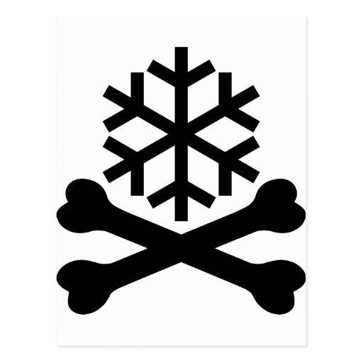 Huesos de la escama de la nieve de la muerte tarjeta postal