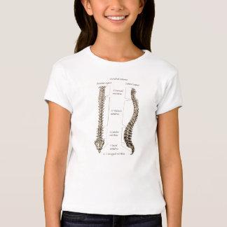 Huesos de la espina dorsal humana remera