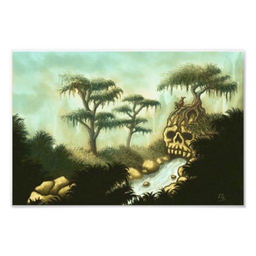 huesos de la impresión de la foto de la fantasía cojinete