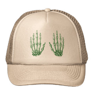 Huesos de la mano humana gorras