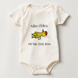 Huesos de la risa, enredadera orgánica trajes de bebé