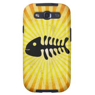 Huesos de pescados felices; Amarillo Samsung Galaxy S3 Protector
