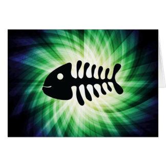 Huesos de pescados frescos tarjetón