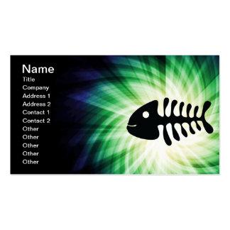 Huesos de pescados frescos plantillas de tarjeta de negocio