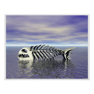 Huesos de pescados póster