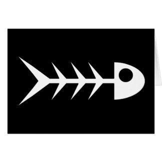 Huesos de pescados tarjeta de felicitación