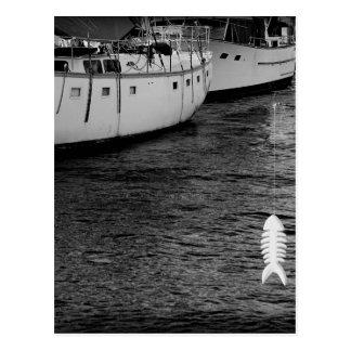 Huesos de pescados tarjeta postal