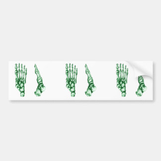 Huesos de pie pegatina de parachoque