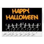 Huesos del baile (con el texto de la diversión) tarjeta de felicitación
