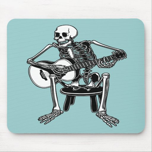 Huesos del Busker Alfombrillas De Raton