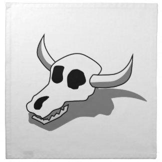 Huesos del cráneo de la vaca servilleta de papel