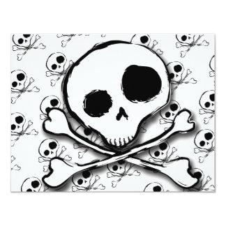 """Huesos del cráneo N con el contexto Invitación 4.25"""" X 5.5"""""""