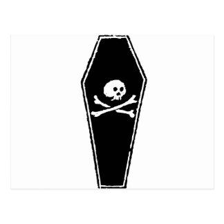 Huesos del cráneo y de la cruz del dibujo animado tarjetas postales