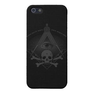 Huesos del cráneo y de la cruz del Freemason de la iPhone 5 Funda