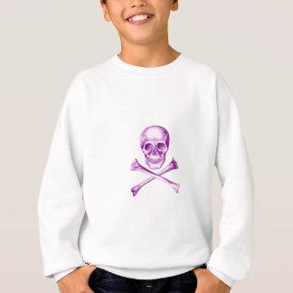 Huesos del cráneo y de la cruz en púrpura sudadera