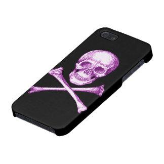 Huesos del cráneo y de la cruz iPhone 5 carcasas