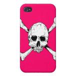 Huesos del cráneo y de la cruz iPhone 4 protector