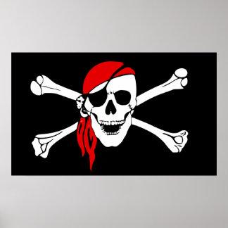Huesos del cráneo y de la cruz posters