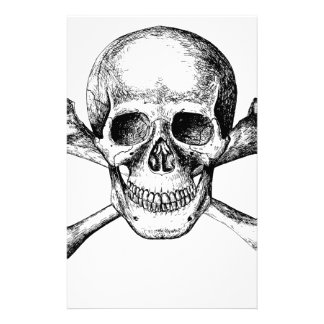 Huesos del cráneo y de la cruz papeleria de diseño