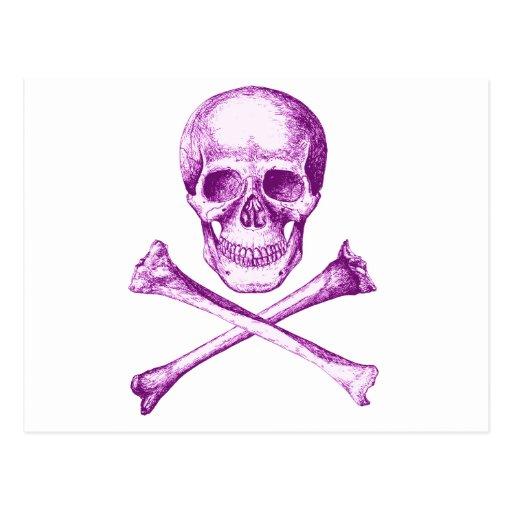 Huesos del cráneo y de la cruz postales
