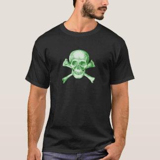 Huesos del cráneo y de la cruz - verde playera