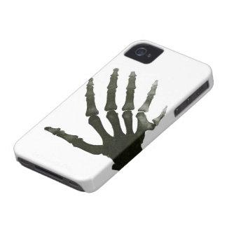 Huesos del esqueleto de la mano del dedo de la funda para iPhone 4