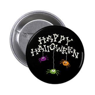Huesos del feliz Halloween Pin Redondo De 2 Pulgadas