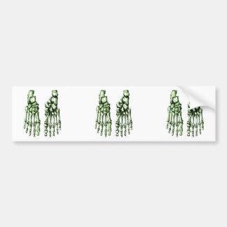 Huesos del foor. humano etiqueta de parachoque