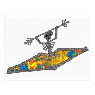 Huesos del Hippie del kajak Tarjeta Postal