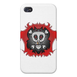 Huesos del palo del cráneo iPhone 4/4S fundas