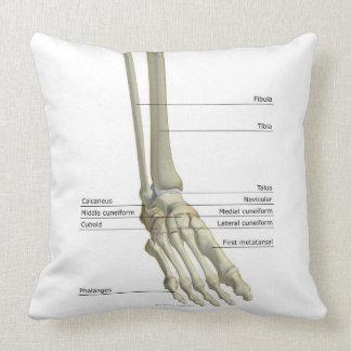 Huesos del pie 6 cojín decorativo