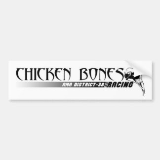 Huesos del pollo que compiten con a la pegatina pa pegatina para auto