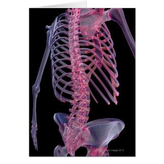 Huesos del tronco tarjeta de felicitación