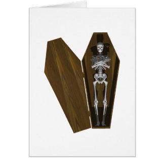 Huesos en un ataúd: Halloween: Tarjeta De Felicitación