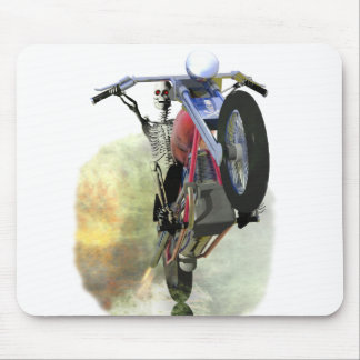 Huesos en una bici alfombrilla de ratones
