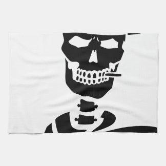 Huesos esqueléticos del diseñador del vaquero toalla de cocina