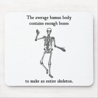 Huesos esqueléticos en el cuerpo humano medio tapetes de ratones