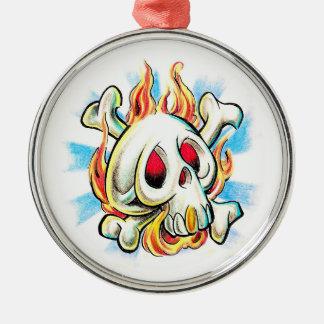Huesos frescos del fuego de la llama del cráneo de ornamento para arbol de navidad
