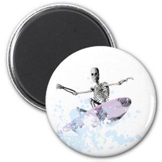 Huesos que practican surf el rizo imán redondo 5 cm