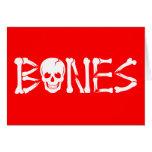 Huesos quebrados tarjetas