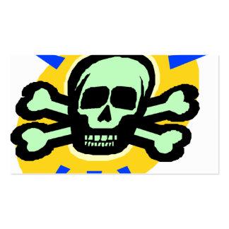 huesos tóxicos del cráneo y de la cruz del poision plantillas de tarjetas personales