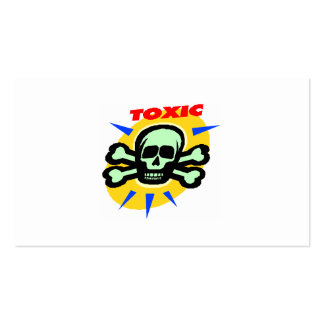 huesos tóxicos del cráneo y de la cruz del poision tarjetas personales