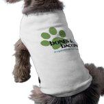 Huesos y camisa del perro de Dogwalking del tocino Ropa Perro